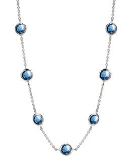 Ippolita Seven-Station Lollipop Necklace, London Blue Topaz