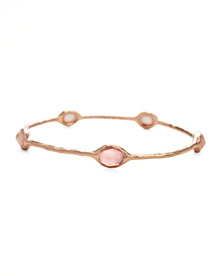 Rose Rose Quartz Station Bangle