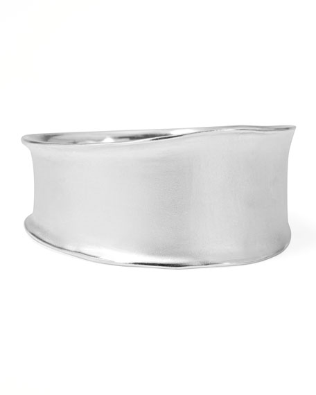 Venezia Extra-Wide Bangle, Silver