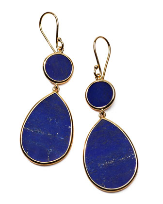 Rock Candy Snowman Earrings, Lapis