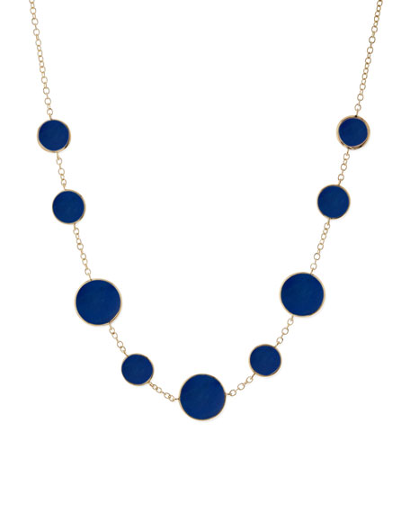 Rock Candy Circle Lapis Necklace