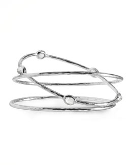 Ippolita Clear Quartz Bangles, Set of Three