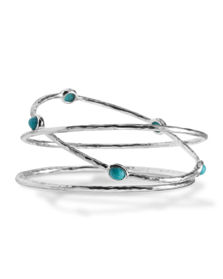 Turquoise Bangles, Set of Three