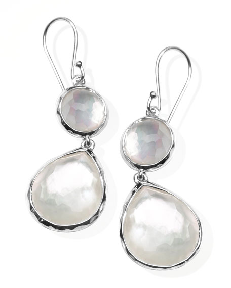 Mother-of-Pearl Wonderland Teardrop Earrings, White