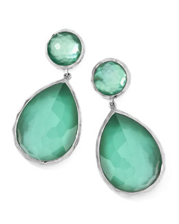 Ippolita Large Mother-of-Pearl Wonderland Teardrop Earrings, Mint