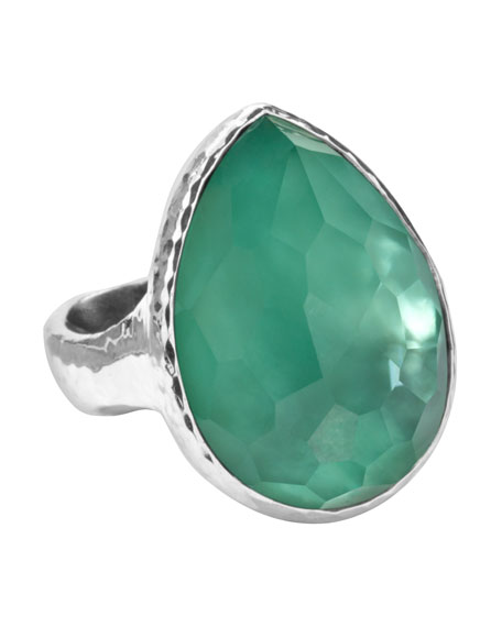 Wonderland Teardrop Ring, Mint