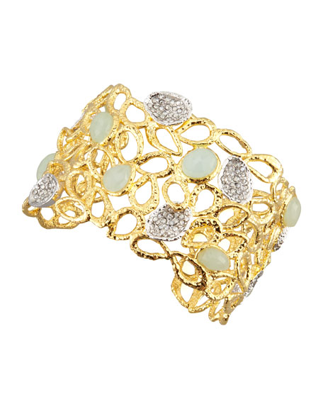 Siyabona Petal Cuff Bracelet, Golden