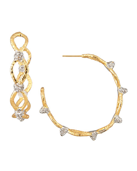 Siyabona Spike Hoop Earrings, Golden