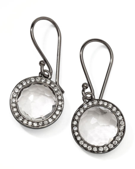 Mini Lollipop Quartz Diamond Earrings