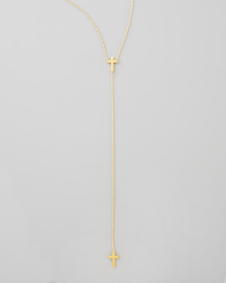 Cross Lariat Necklace