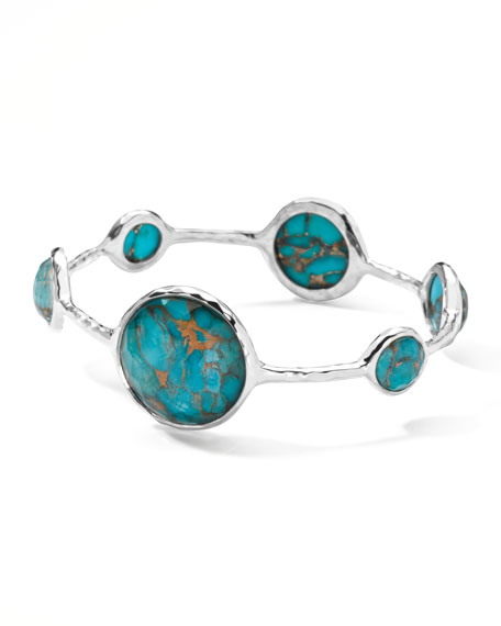 Large Lollipop Bangle, Bronze Turquoise
