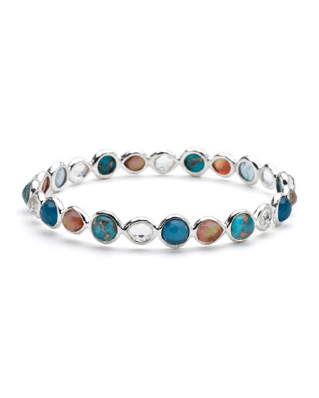 Gelato Silver Multi-Stone Bangle