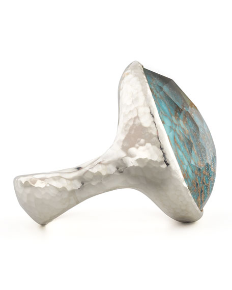Wonderland Silver Turquoise Teardrop Ring