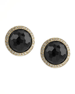 Ippolita Lollipop Onyx & Diamond Stud Earrings