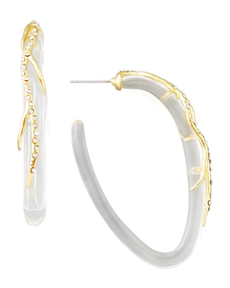 Ophelia Vine Hoop Earrings, Clear