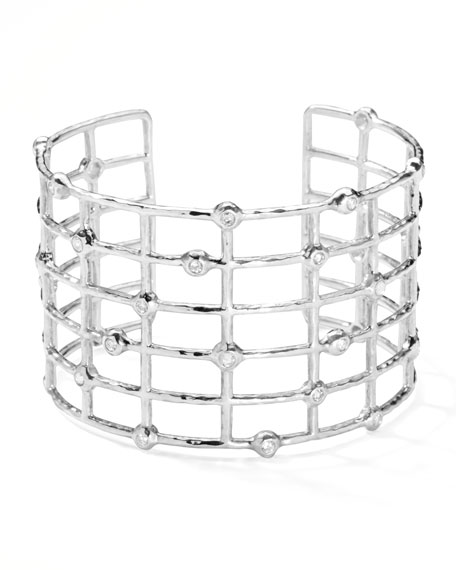 Sterling Silver #2 Cuff with Diamonds