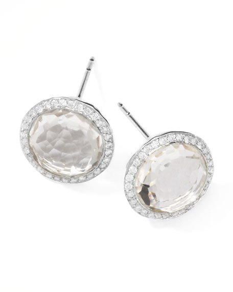 Rock Candy Diamond Quartz Stud Earrings