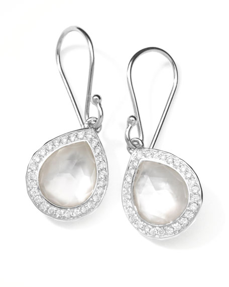 "Rock Candy Diamond Doublet Teardrop Earrings, 4/5""L"