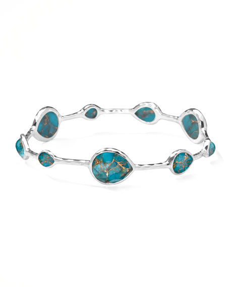 Wonderland Turquoise Teardrop Bangle