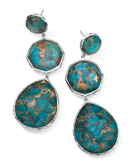 Ippolita Wonderland Silver Crazy-Eight Turquoise Earrings