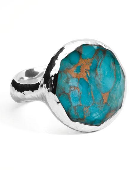 Wonderland Turquoise Round Ring