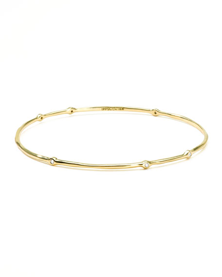Superstar 18k Gold Diamond Bangle