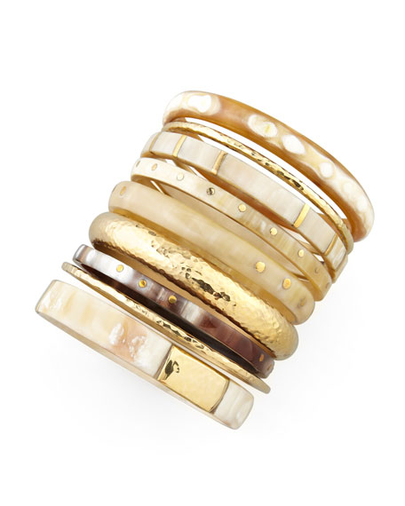 Nene Horn & Bronze Bangles, Set of 9