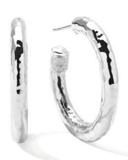 Glamazon Silver Hoop Earrings