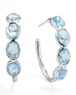 Ippolita Silver Blue Topaz Hoop Earrings