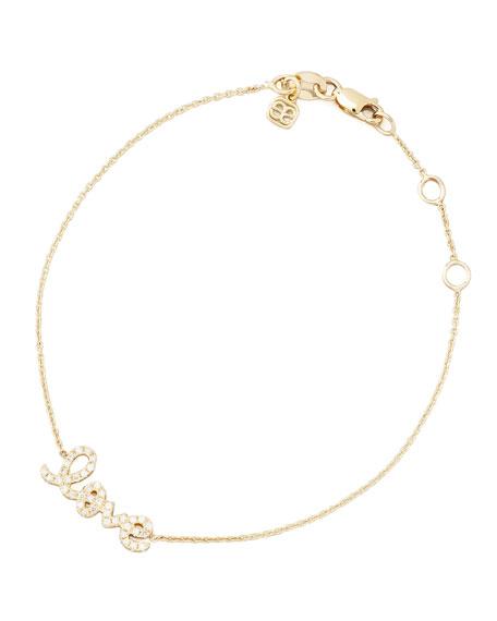 Small Yellow Gold Diamond Love Bracelet