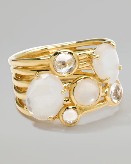18k Gold Rock Candy Gelato 6-Stone Cluster Ring, Flirt