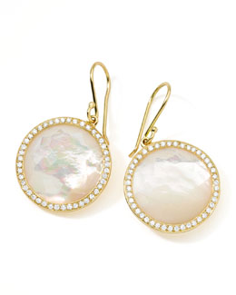 Gold Rock Candy Lollipop Diamond Mother-of-Pearl Earrings