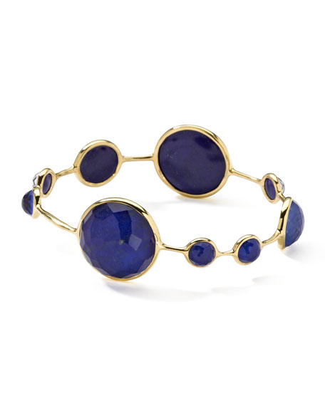 18k Gold Rock Candy Lapis Bangle