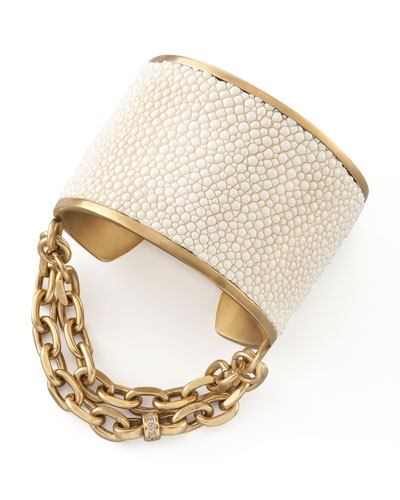 Natalie Stingray Cuff, White