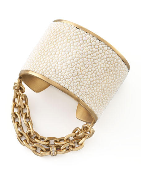 WHITE NATALIE MINI CUFF
