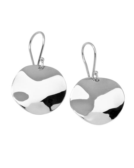 Sterling Silver Scultura Medium Drop Earrings