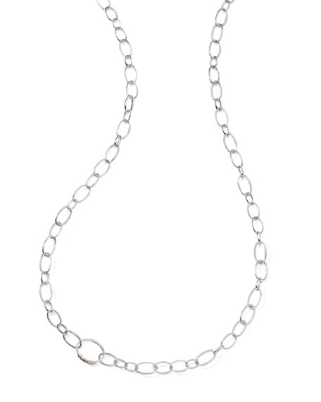"Sterling Silver Smooth Chain Necklace, 48""L"