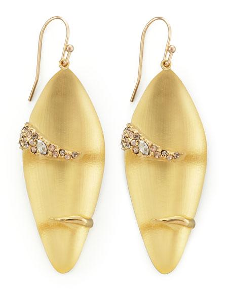 Durban Small Lucite Earrings, Golden