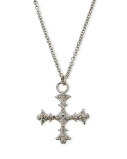 Armenta New World Diamond Cross Pendant Necklace