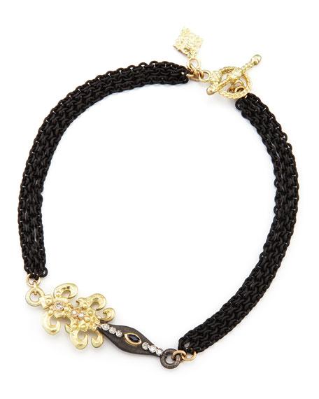 Fleur de Lis Dagger Chain Bracelet