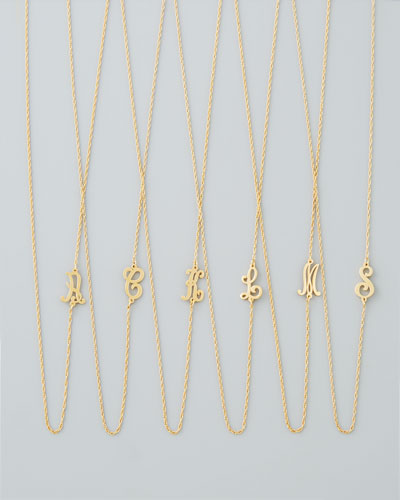 Dainty mini initial necklace