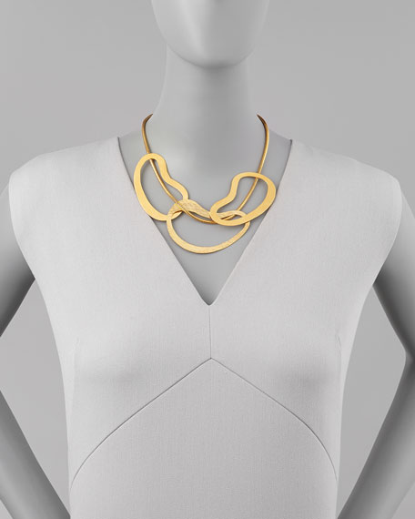 Vibrations 3-Ring Bib Necklace