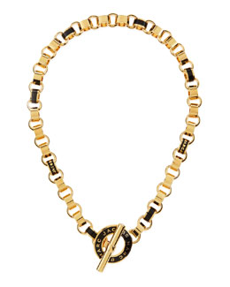 MARC by Marc Jacobs Enamel Toggle Necklace, Black