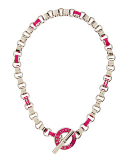 MARC by Marc Jacobs Enamel Toggle Necklace, Pink