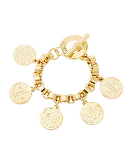 MARC by Marc Jacobs Toggle-Clasp Charm Bracelet, Yellow Golden