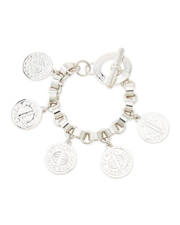 MARC by Marc Jacobs Toggle-Clasp Charm Bracelet, Silvertone