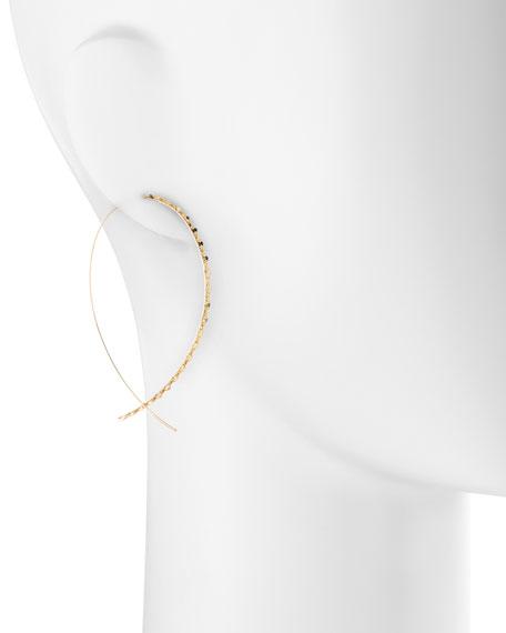 14k Large Glam Upside-Down Hoop Earrings