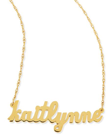 Serafina Personalized Mini Nameplate Necklace