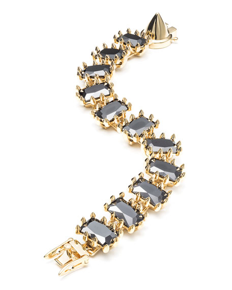 Eddie Borgo Small Rectangle Estate Bracelet, Black