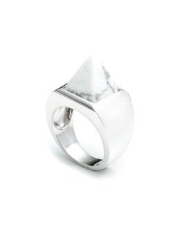 Howlite Pyramid Ring